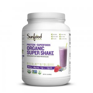 SunFood Protein + Superfoods Organic Super Shake Berry -- 1.1 lb