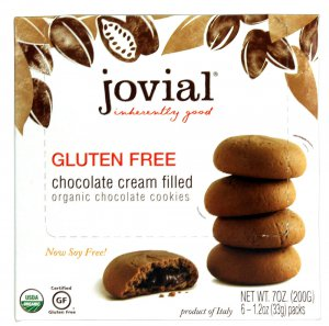 Jovial Organic Cream Filled Cookies Gluten Free Chocolate -- 7 o