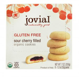 Jovial Organic Fruit Filled Cookies Gluten Free Sour Cherry -- 7