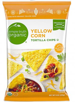 Simple Truth? Organic Tortilla Chips Yellow Corn -- 9 oz